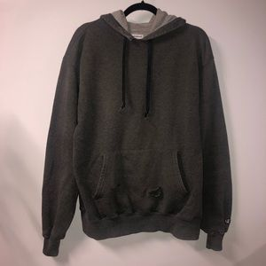 Vintage Champion Distressed Sweatshirt Hoodie
